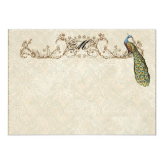 Vintage Peacock & Etchings Thank You Note Cards Personalized Invitation