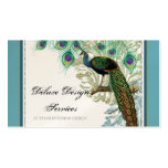 Vintage Peacock, Feathers - Elegant Business Cards