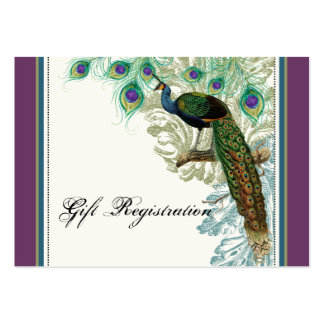 Vintage Peacock, Feathers - Gift Registration Card Business Cards
