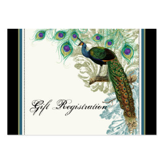 Vintage Peacock, Feathers - Gift Registration Card Business Card Templates