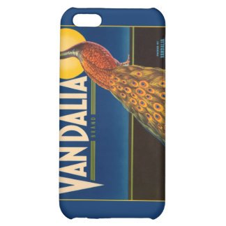 Vintage Peacock Fruit Crate Label iPhone 5C Cases