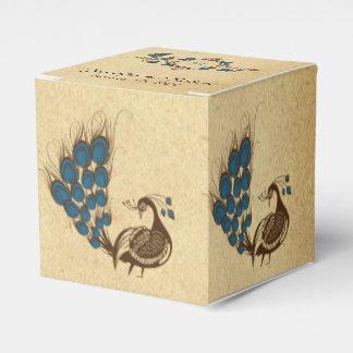 Vintage Peacock Monogram Wedding Favor Box Party Favour Boxes