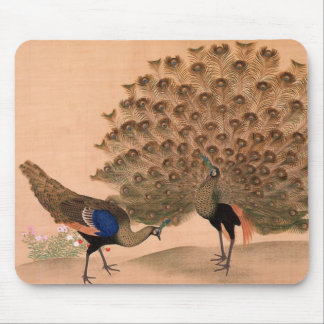 Vintage Peacock Mouse Pad