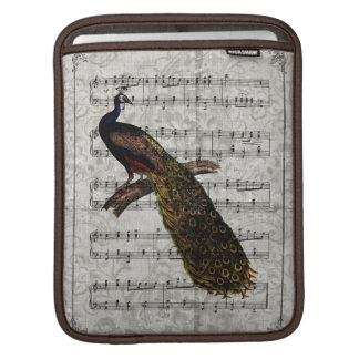 Vintage Peacock Music Sleeves For iPads