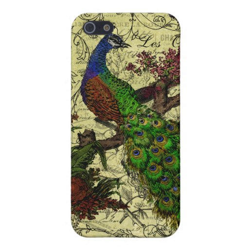 Vintage Peacock on Branch Apparel and Gifts Cases For iPhone 5