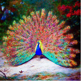Vintage Peacock Painting Photo Cutouts