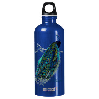 Vintage Peacock, Personalized SIGG Traveller 0.6L Water Bottle