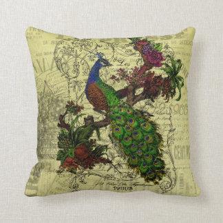 Vintage Peacock Pillow