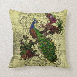 Vintage Peacock Pillow