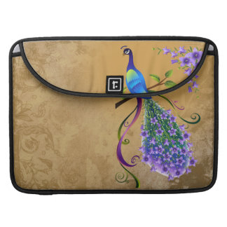 Vintage Peacock Rickshaw Flap Sleeve Sleeve For MacBook Pro