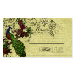 Vintage Peacock Wedding Place Cards Pack Of Standard Business Cards