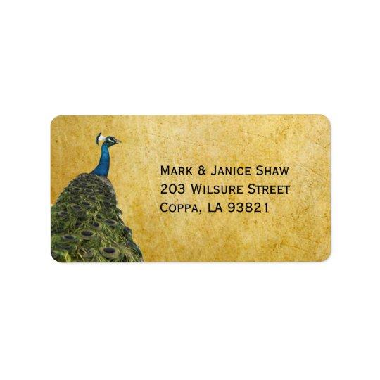 Vintage Peacocks Address Label