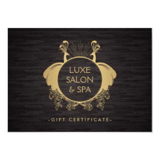 Vintage Peacocks Beauty Salon Spa Gift Certificate 11 Cm X 16 Cm Invitation Card