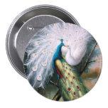 Vintage Peacocks Kiss 7.5 Cm Round Badge