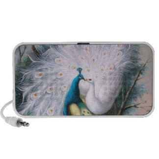 Vintage Peacocks Kiss iPhone Speaker