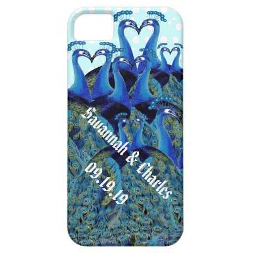 Vintage Peacocks Kissing Wedding Gifts Case For iPhone 5/5S