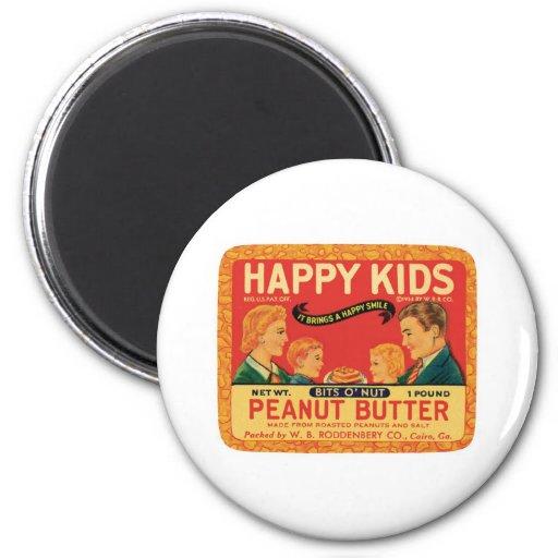 Vintage Peanut Butter Food Product Label Refrigerator Magnet