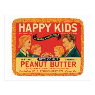Vintage Peanut Butter Food Product Label Postcards