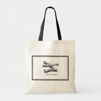 Vintage peanut etching tote bag