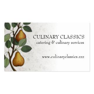 Vintage pear tree fruit cooking baking biz cards pack of standard business cards