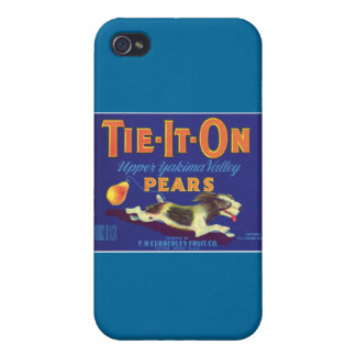Vintage Pears Food Product Label iPhone 4 Cases