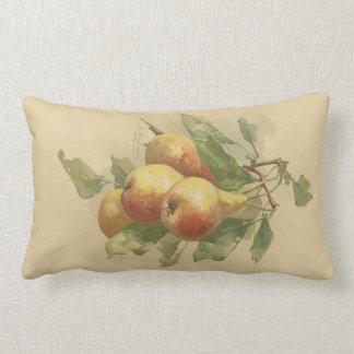 Vintage pears lumbar cushion
