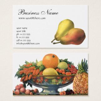 Vintage Pears, Organic Foods, Ripe Fruit Business Card
