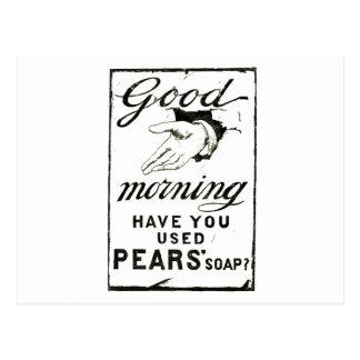VINTAGE PEARS SOAP ADVERT - Circa 1895 Postcard