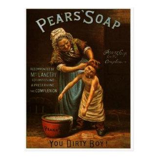 Vintage Pears Soap Postcard