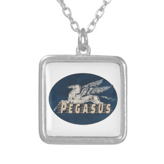 Vintage Pegasus Design Silver Plated Necklace