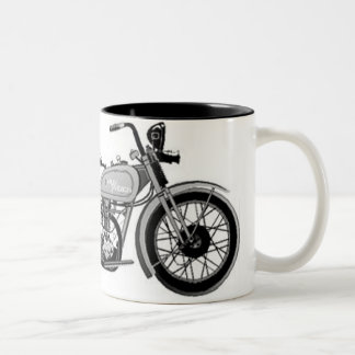 Vintage Pen and Ink Harley Two-Tone Coffee Mug