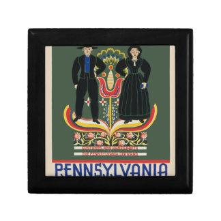 Vintage Pennsylvania Travel Gift Box