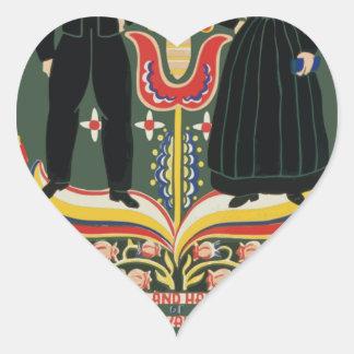Vintage Pennsylvania Travel Heart Sticker