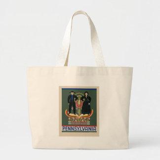 Vintage Pennsylvania Travel Large Tote Bag