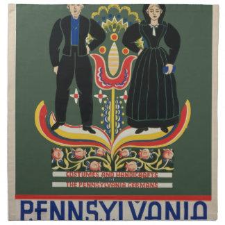Vintage Pennsylvania Travel Napkin