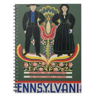 Vintage Pennsylvania Travel Spiral Notebook