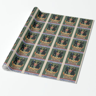 Vintage Pennsylvania Travel Wrapping Paper