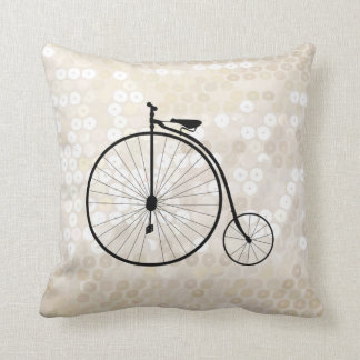 Vintage Penny-Farthing Bicycle Cushion