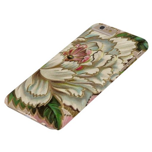 Vintage Peony Flower Barely There iPhone 6 Plus Case