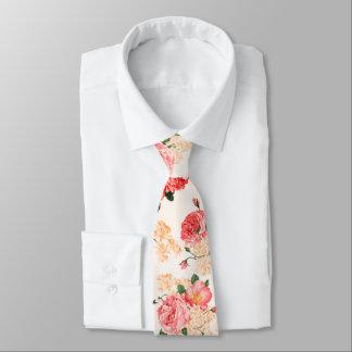 Vintage Peony & Rose Floral - Neck Tie