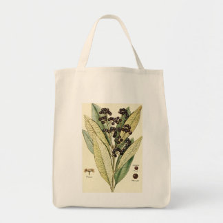 Vintage peppercorn illustration groceries tote bag