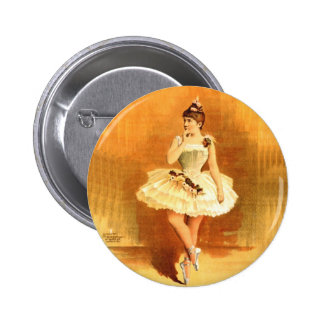 Vintage Performing Arts Poster Ballerina Girl 1890 6 Cm Round Badge