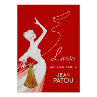 Vintage Perfume Advertising French Poster