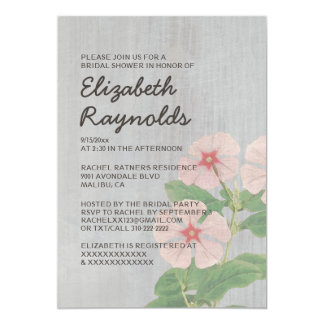 Vintage Periwinkle Bridal Shower Invitations