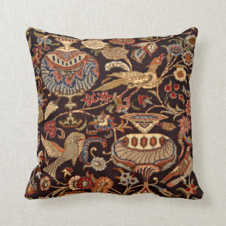 Vintage Persian Oriental Turkish Carpet Pattern Cushion