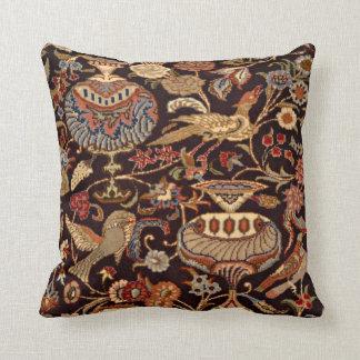 Vintage Persian Oriental Turkish Carpet Pattern Throw Pillow