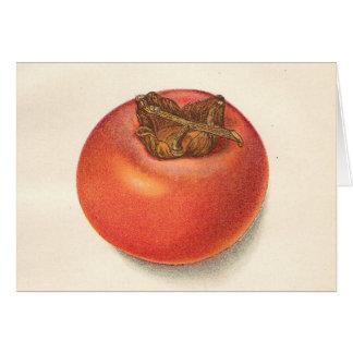 Vintage Persimmon Greeting Card