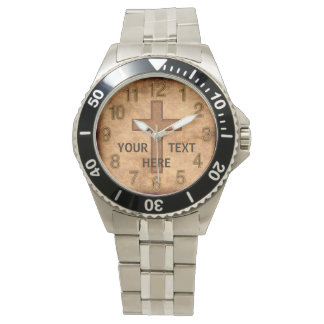 Vintage Personalized Christian Watch YOUR TEXT