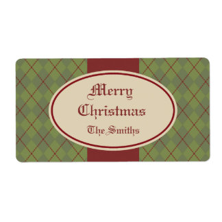Vintage Personalized Christmas Gift Tags Labels