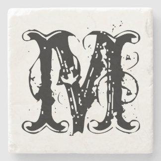 Vintage personalized monogram letter stone coaster stone coaster